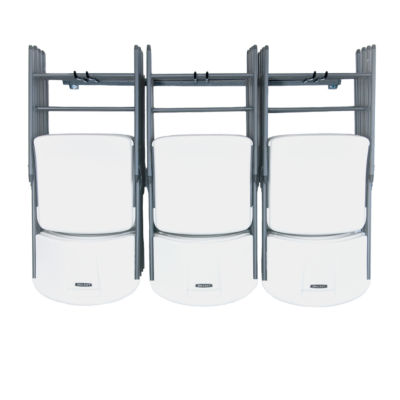 Monkey Bars Folding Chair Garage Wall Rack