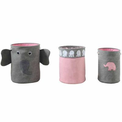Bintopia™ 3-Piece Elephant Toy / Hamper Storage