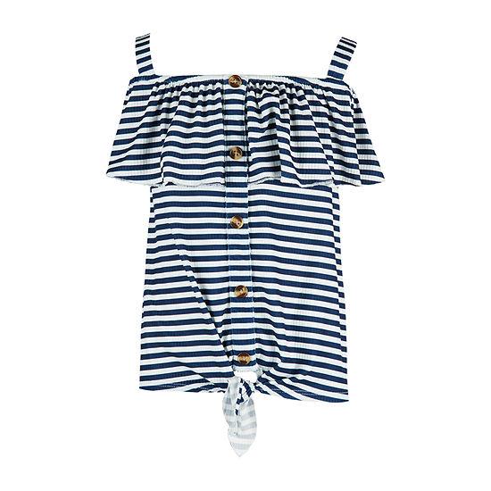 Knit Works Little & Big Girls Square Neck Sleeveless Blouse