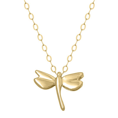 Teeny Tiny® 14K Yellow Gold Petite Dragonfly Pendant Necklace