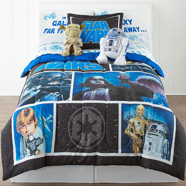 Star Wars Twin/Full Reversible Comforter + BONUS Sham
