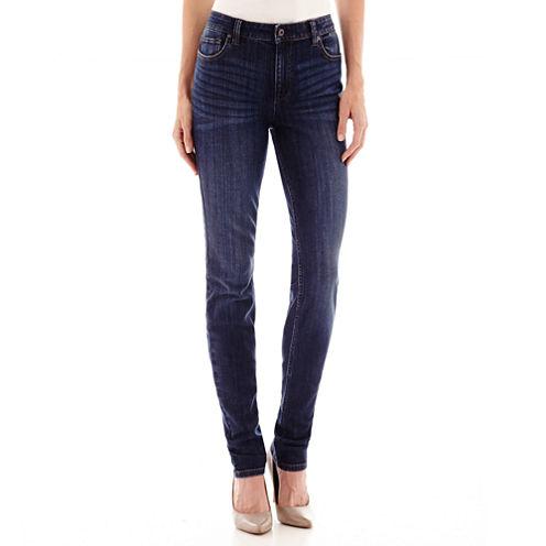 Liz Claiborne® City-Fit Skinny Leg Jeans