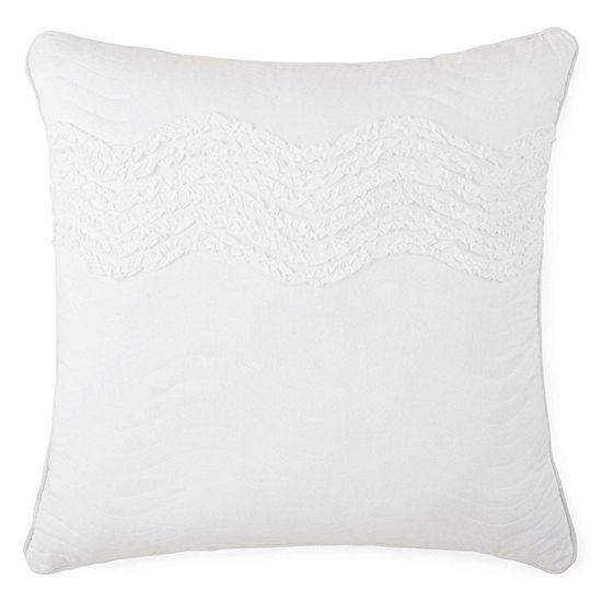 JCPenney Home™ Cotton Classics Ruffle Euro Pillow