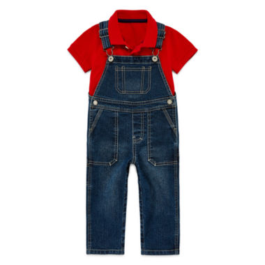 jcpenney.com | Arizona Polo or Denim Overalls - Baby Boys 3m-24m