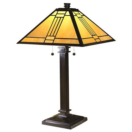 Dale Tiffany Heming Mission Metal Table Lamp
