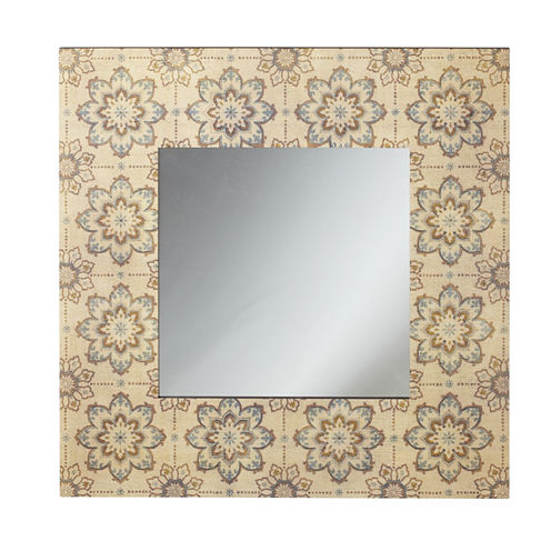 Antiqued Medallion Wall Mirror