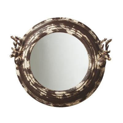 Distressed Stag Wall Mirror