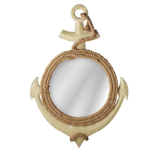 Anchor Wall Mirror with Rope Hanger