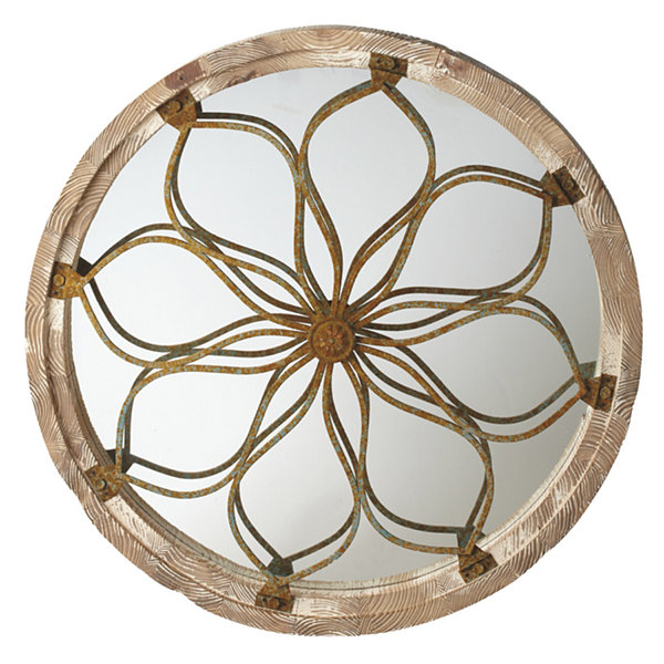 Round Medallion Wall Mirror
