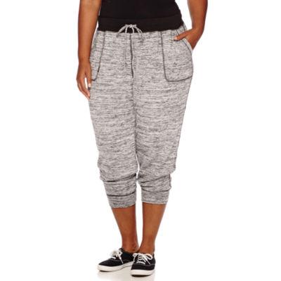 Liz Claiborne® Spaced Dye Jogger Pants - Plus