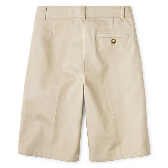 Izod Boys Adjustable Waist Chino Short Big Kid