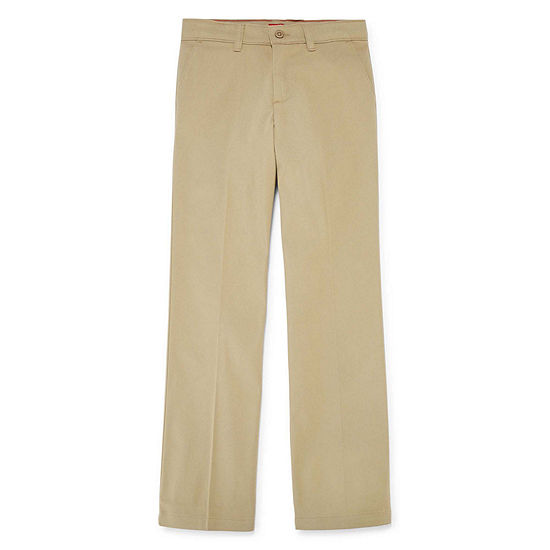 Dickies Little Girls Mid Rise Straight Flat Front Pant