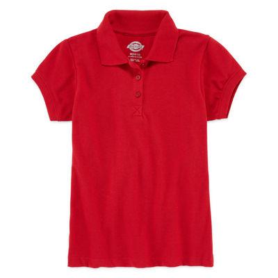 Dickies® Short-Sleeve Piqué Polo Shirt - Preschool Girls 4-6x