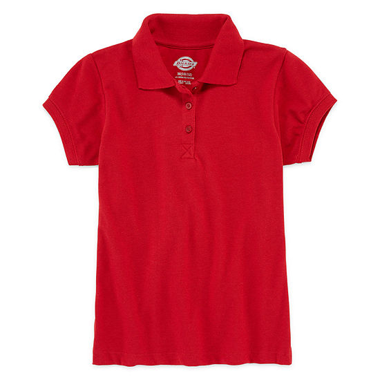 Dickies Girls Short Sleeve Polo Shirt