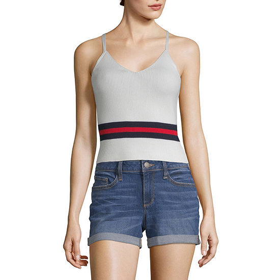 Almost Famous Womens V Neck Sleeveless Tank Top Juniors