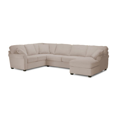 Fabric Possibilities Roll Arm 3-Pc Right Arm Chaise Sectional