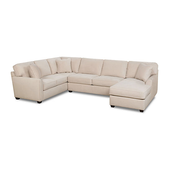 Fabric Possibilities Sharkfin 3-Pc Right Arm Chaise Sectional