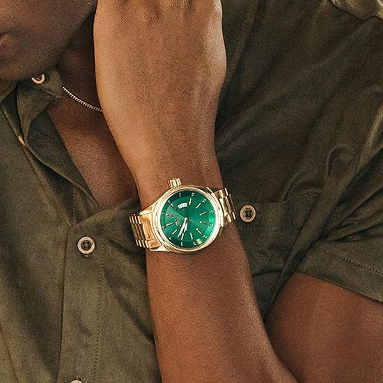 JBW Mens Multi-Function Gold Tone Bracelet Watch-J6287i