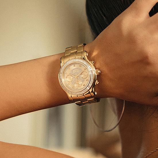 JBW Womens Multi-Function Gold Tone Bracelet Watch-J6330a