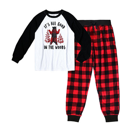 Holiday #FAMJAMS Bear Buffalo Family 2 Piece Pajama Set -Men's