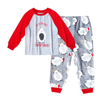 Holiday #FAMJAMS Yeti Family  2 Piece Pajama Set -Boy's Toddler