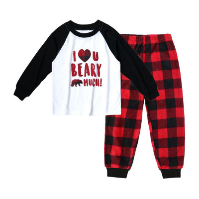 Holiday #FAMJAMS Bear Buffalo Family 2 Piece Pajama Set -Boy's Toddler