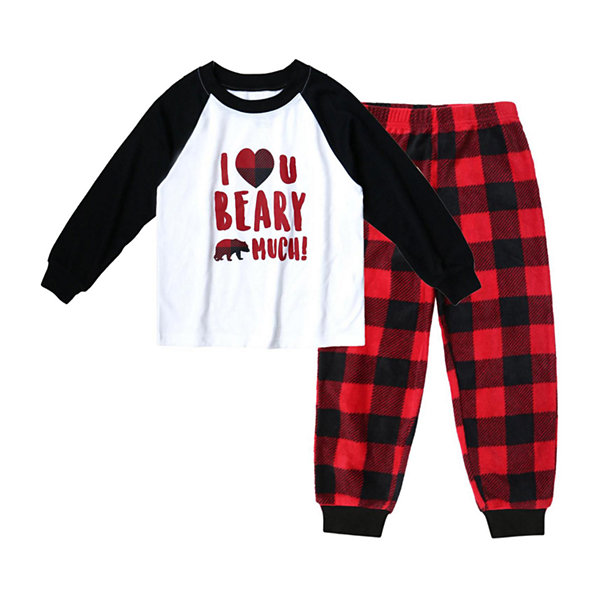 Holiday #Famjams Bear Buffalo Family Boys 2-pc. Pant Pajama Set Toddler