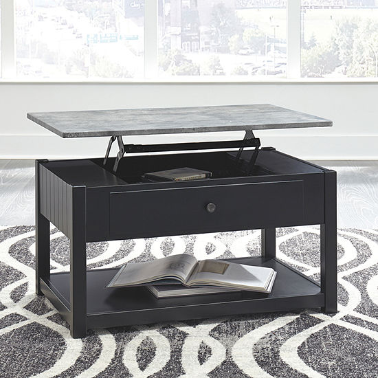 Signature Design by Ashley Ezmonei 1-Drawer Lift-Top Coffee Table