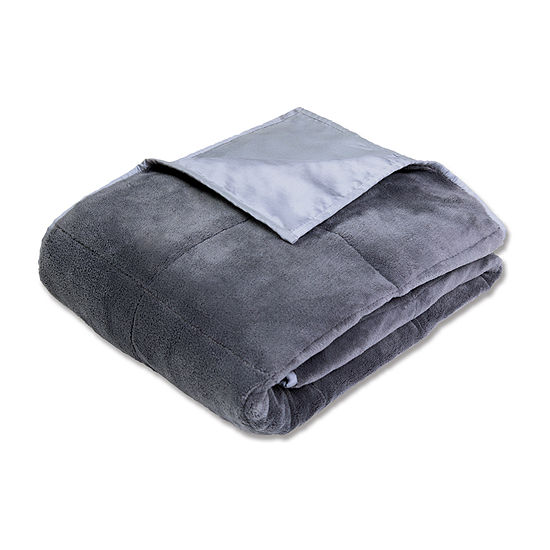 Sharper Image Calming Comfort Weighted Blanket with Cooling Technology - Reversible 12 LBS