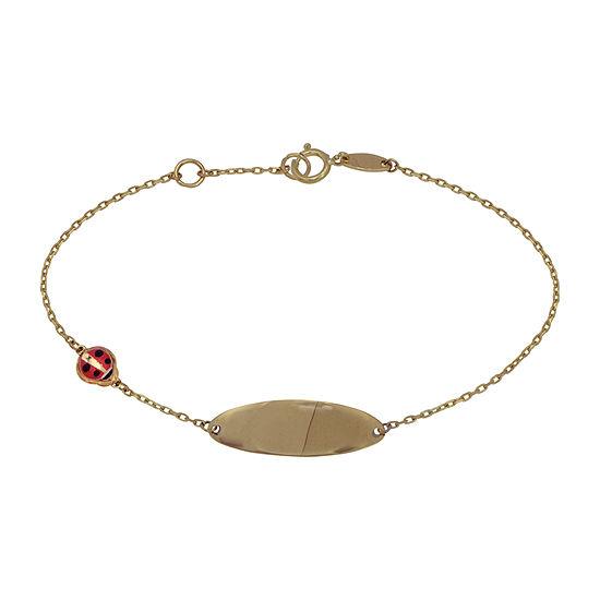 14K Gold 6 Inch Hollow Link Bracelet