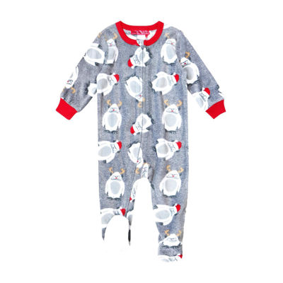 Holiday #Famjams Yeti Family Unisex Knit Footed Pajamas Long Sleeve