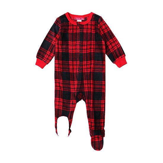 Holiday #FAMJAMS Tired Buffalo Family 1 Piece Pajama - Unisex Baby
