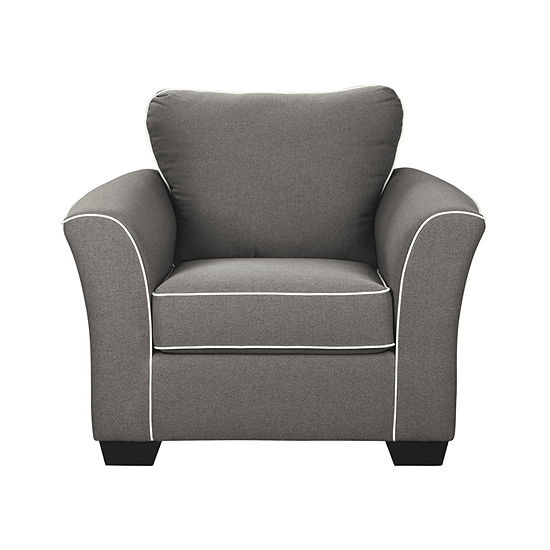 Signature Design by Ashley Domani Curved Slope-Arm Chair