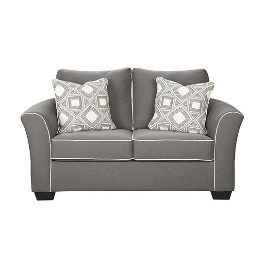 Signature Design by Ashley® Domani Curved Slope-Arm Loveseat