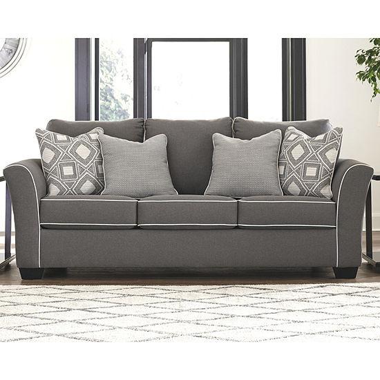 Signature Design by Ashley® Domani Curved Slope-Arm Sofa