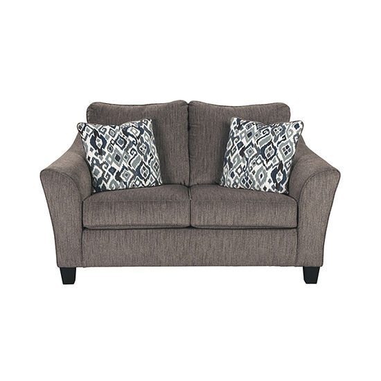 Signature Design by Ashley® Nemoli Curved Slope-Arm Loveseat