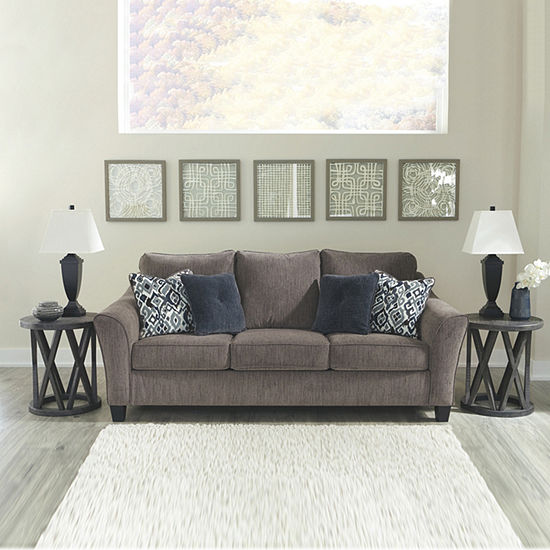 Signature Design by Ashley® Nemoli Curved Slope-Arm Sofa