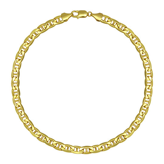 """Made in Italy 10K Yellow Gold 22"""" Hollow Mariner Chain"""