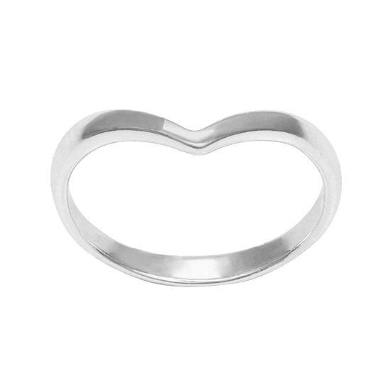 Itsy Bitsy Sterling Silver Chevron Midi Ring