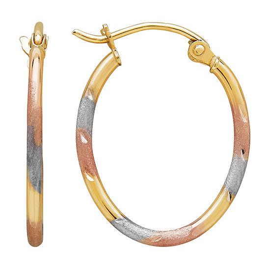 10K GOLD 20mm Hoop Earrings