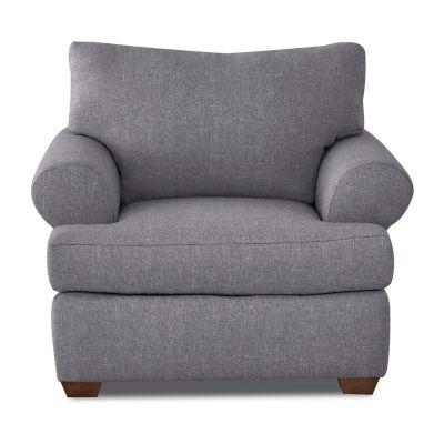 Klaussner Custom Roll-Arm Chair
