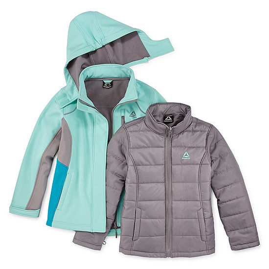 Reebok Girls Hooded Heavyweight 3-In-1 System Jacket Preschool / Big Kid