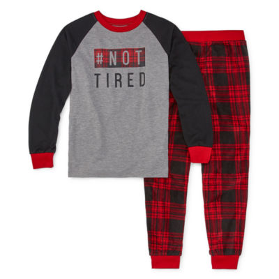 Holiday #Famjams Tired Buffalo Family Unisex 2-pc. Pant Pajama Set Preschool / Big Kid