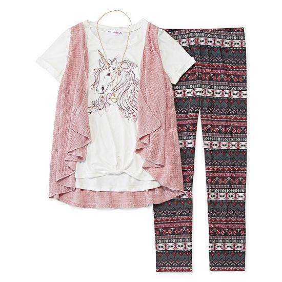 Knit Works 3-pc. Legging Set Girls