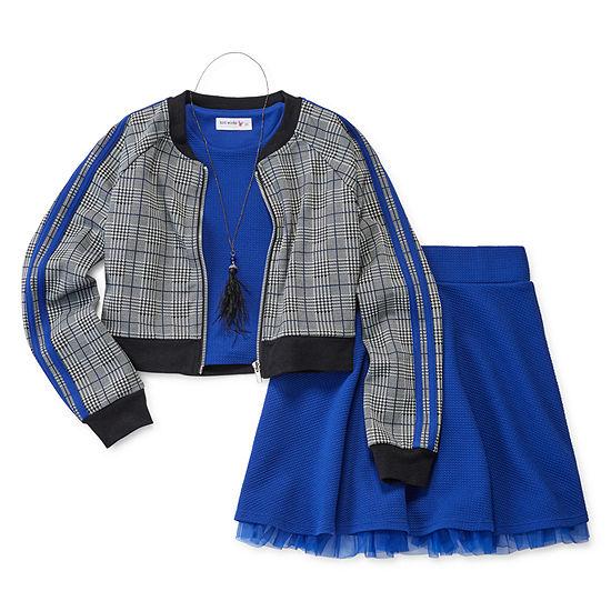 Knit Works Dress Sets 3-pc. Skirt Set Big Kid Girls