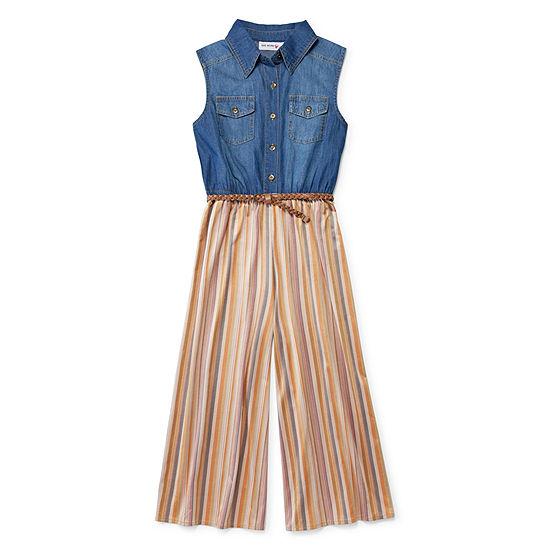 Knit Works Jumpsuits Girls Belted Sleeveless Jumper Preschool Big Kid