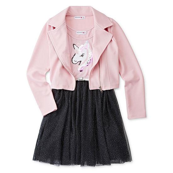 Knit Works 2-pc. Jacket Dress - Preschool / Big Kid Girls