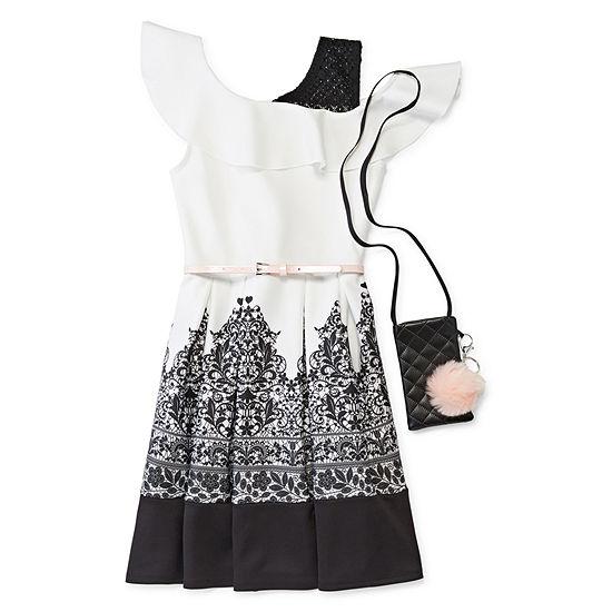 Knit Works 100 Sleeveless Skater Dress Girls