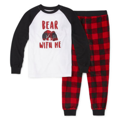 Holiday #Famjams Bear Buffalo Family Boys 2-pc. Pant Pajama Set Preschool / Big Kid