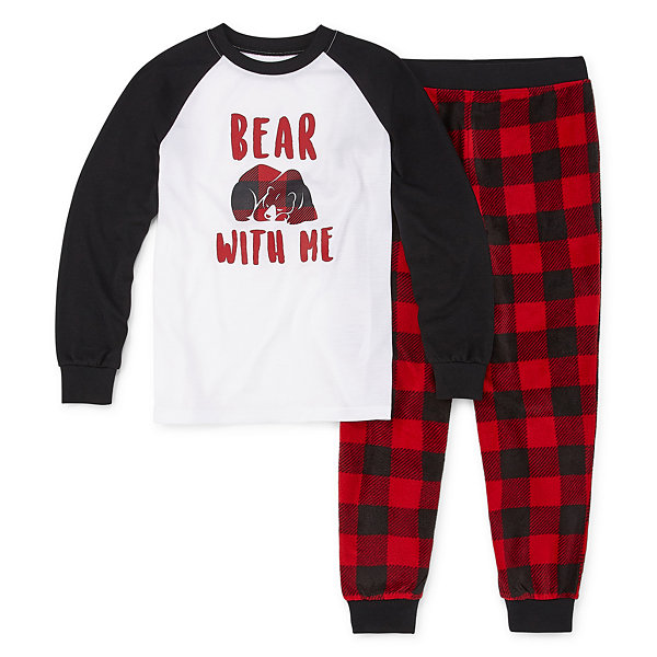 Holiday #Famjams Bear Buffalo Family Boys 2-pc. Pant Pajama Set Preschool / Big Kid